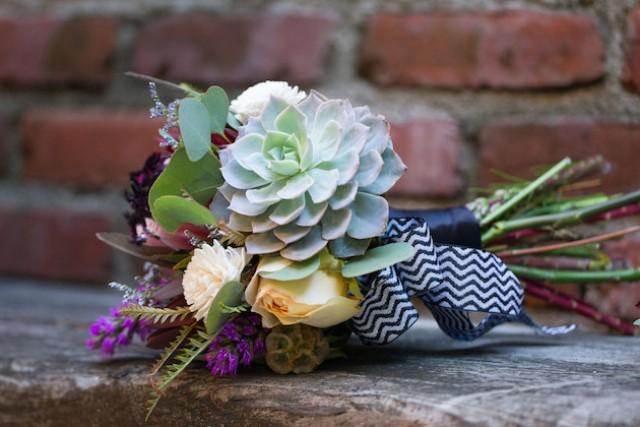 Picture Of Cute DIY Bohemian Wedding Bouquet 10