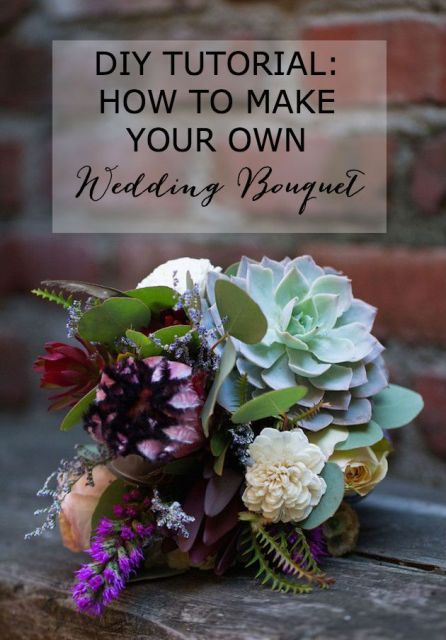 Cute DIY Bohemian Wedding Bouquet