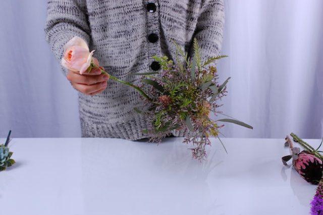 Picture Of Cute DIY Bohemian Wedding Bouquet 6