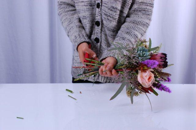 Picture Of Cute DIY Bohemian Wedding Bouquet 8