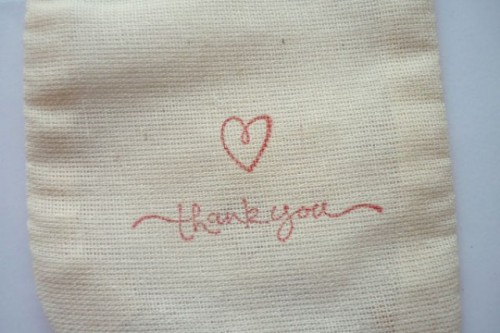 Cute DIY Stamped Favor Bags For Your Wedding