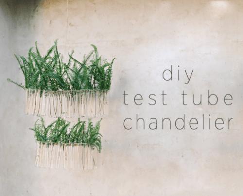 Cute DIY Test Tube Chandelier For Rustic Weddings