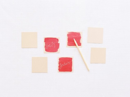 Cute DIY Watercolor Place Cards For Your Bridal Shower