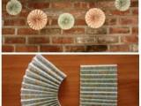 Cute DIY Wedding Paper Garland