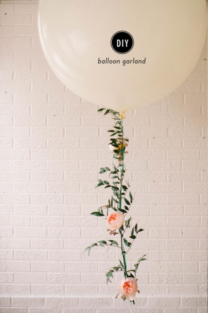 DIY Floral Balloon Garland For Wedding Decor
