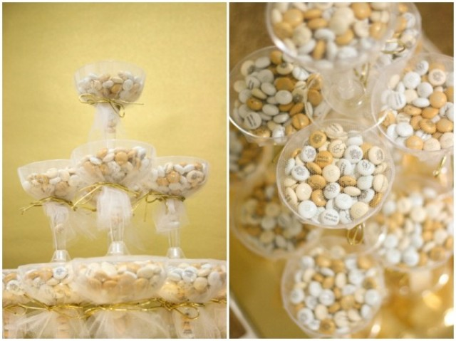 Picture Of DIY Glamorous Bridal Shower Or Wedding Favors With M&M's 3