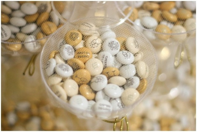 Picture Of DIY Glamorous Bridal Shower Or Wedding Favors With M&M's 4