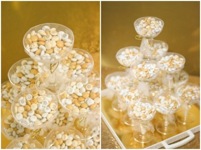 Picture Of DIY Glamorous Bridal Shower Or Wedding Favors With M&M's 6