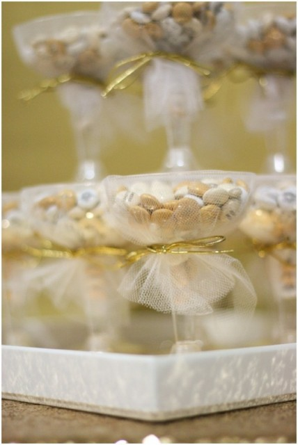 DIY Glamorous Bridal Shower Or Wedding Favors With M&M's