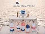 DIY Nautical Buoy Garland For Your Big Day