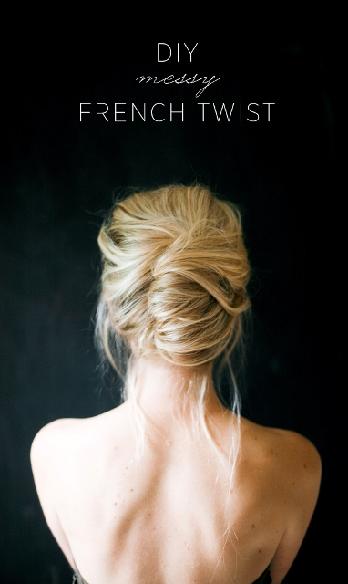 Delightful DIY Messy French Twist Hairstyle For Brides