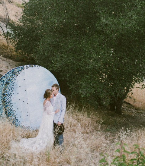 Dreamy DIY Giant Moon Backdrop For Your Wedding