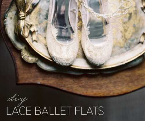 Dreamy DIY Lace Ballet Flats For Brides