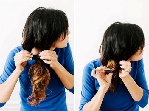 Easy To Make DIY Bridal Twist And Wrap Ponytail