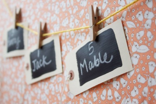 Easy-To-Make DIY Chalkboard Escort Cards