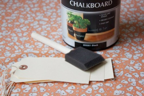 Easy To Make DIY Chalkboard Escort Cards