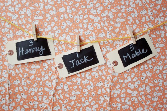Picture Of Easy To Make DIY Chalkboard Escort Cards 6