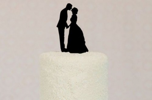 Easy To Make DIY Silhouette Cake Toppers