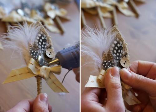 Elegant Rustic DIY Burlap Boutonniere