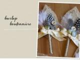 Elegant DIY Burlap Boutonniere15