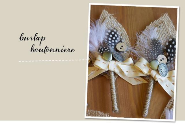 Picture Of Elegant DIY Burlap Boutonniere 15