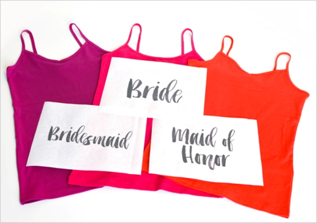Picture Of Funny DIY Bleach Shirts For Bride And Bridesmaids 3