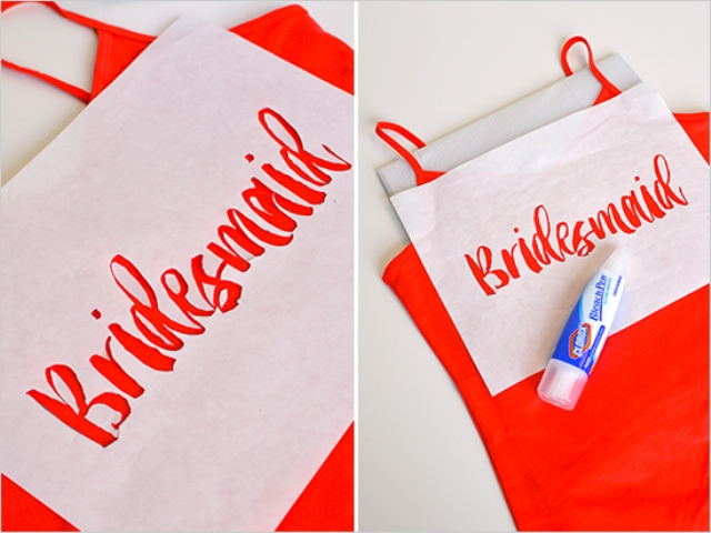 Picture Of Funny DIY Bleach Shirts For Bride And Bridesmaids 6