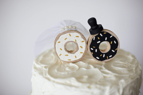 Funny DIY Donut Wedding Cake Topper