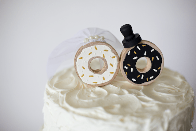 donut wedding cake topper