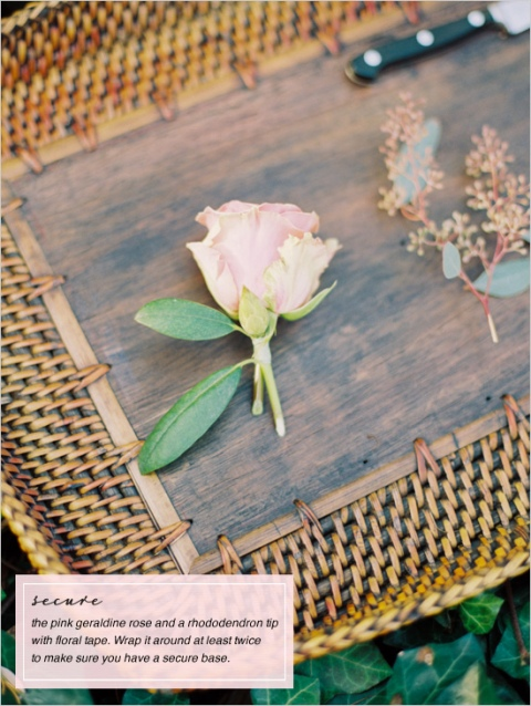 Picture Of Gentle DIY Boutonniere With A Rose 4