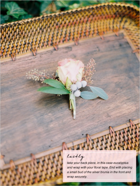 Gentle DIY Boutonniere With A Rose