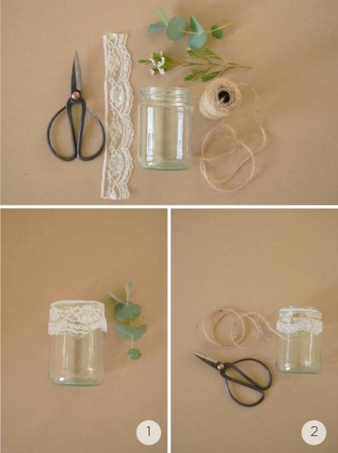 Gentle DIY Rustic Hanging Aisle Wedding Decor