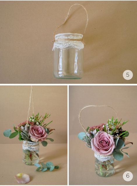 Picture Of Gentle DIY Rustic Hanging Aisle Wedding Décor 4