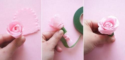 Floral Paper DIY Wedding Confetti Cones