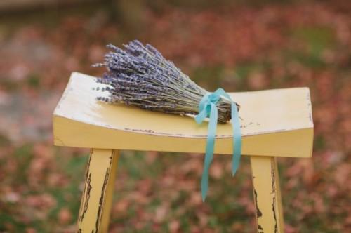 Lovely DIY Fresh Lavender Wedding Bouquet