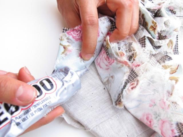 Picture Of Original DIY Wedding Decor Fabric Scrap Letter 10