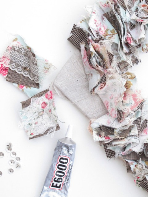 Picture Of Original DIY Wedding Decor Fabric Scrap Letter 11