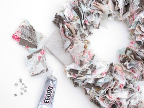 Original DIY Wedding Decor Fabric Scrap Letter