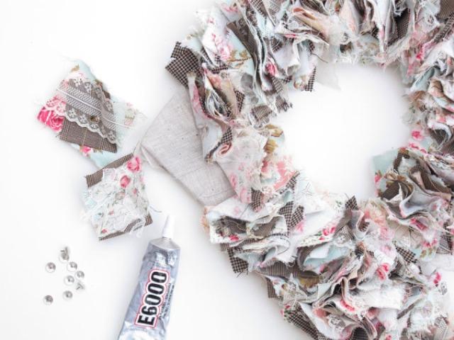 Picture Of Original DIY Wedding Decor Fabric Scrap Letter 12