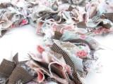 Original DIY Wedding Decor Fabric Scrap Letter13