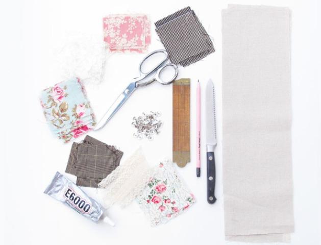 Picture Of Original DIY Wedding Decor Fabric Scrap Letter 2