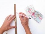 Original DIY Wedding Decor Fabric Scrap Letter3