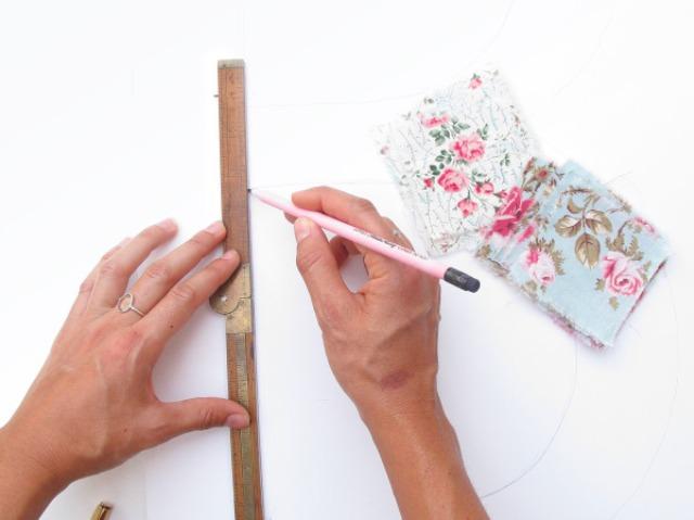 Picture Of Original DIY Wedding Decor Fabric Scrap Letter 3