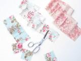 Original DIY Wedding Decor Fabric Scrap Letter4