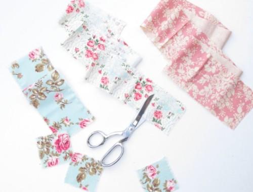 Original DIY Wedding Decor Fabric Scrap Letter