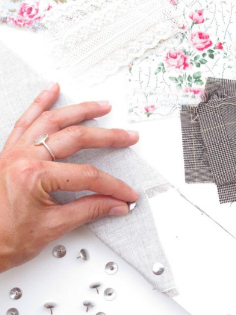 Picture Of Original DIY Wedding Decor Fabric Scrap Letter 8