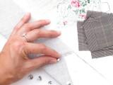 Original DIY Wedding Decor Fabric Scrap Letter9