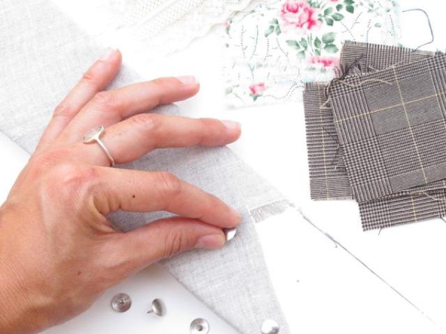 Picture Of Original DIY Wedding Decor Fabric Scrap Letter 9
