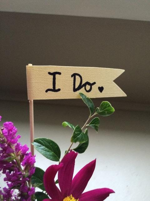 Bold DIY 'I Do' Graphic Boutonniere
