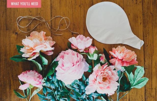 Picture Of Romantic DIY Balloon With Silk Flowers For Weddings 2